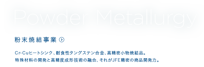 Powder Metalluagry 粉末焼結事業